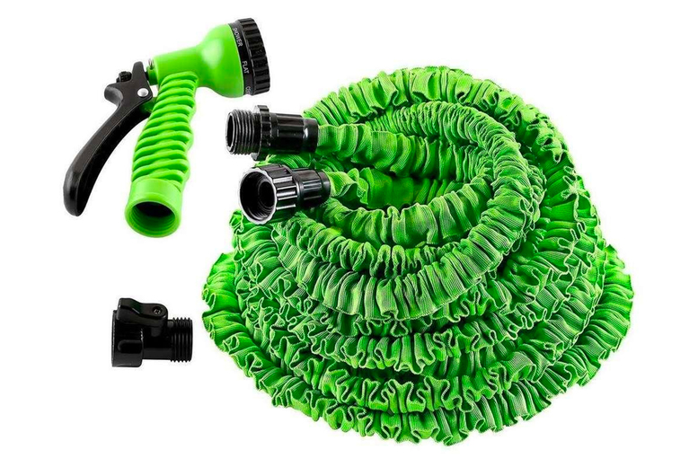 Image of From £13.99 instead of £49.99 for a pack of two expandable garden hoses with a multiple settings nozzle in 25ft, 50ft, 75ft or 100ft length from Bright Associates - save up to 72%