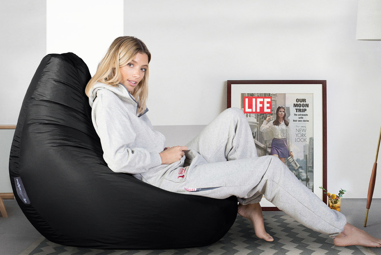 Image of £39 instead of £99 for a Big Bertha Original high-back bean bag chair, £46 for a beanbag chair and footstool from Mikabou - upgrade for an optional footstool and save up to 61%