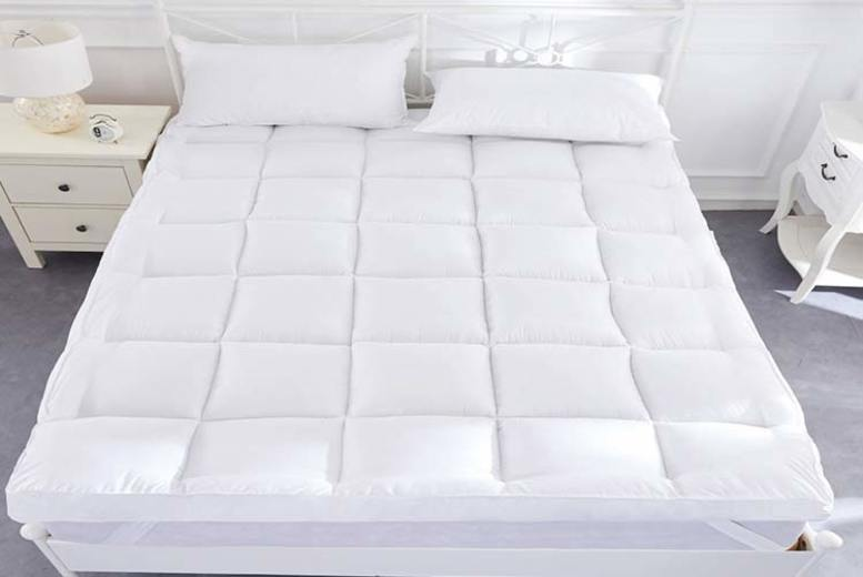 Image of From £24.99 for a 5cm duck feather and down mattress topper from Direct Warehouse Limited - choose from five sizes!