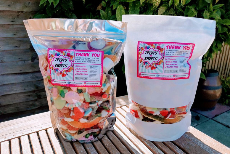 Image of £10 instead of £15 for a 1.5kg Mega Mix Sweet Bag from Treats n Sweets UK, or £14 for a 2kg bag - choose from three tasty varieties and save up to 33%