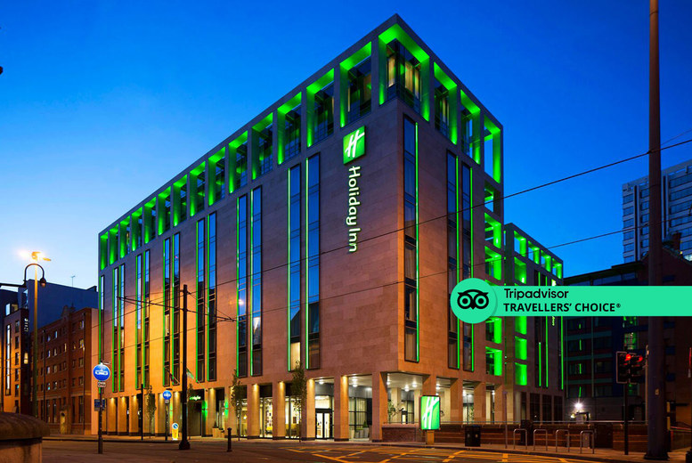 Image of A Manchester stay at the 4* Holiday Inn Manchester - City Centre for two with one bottle of Prosecco to share and breakfast. £69 for an overnight stay - save up to 57%