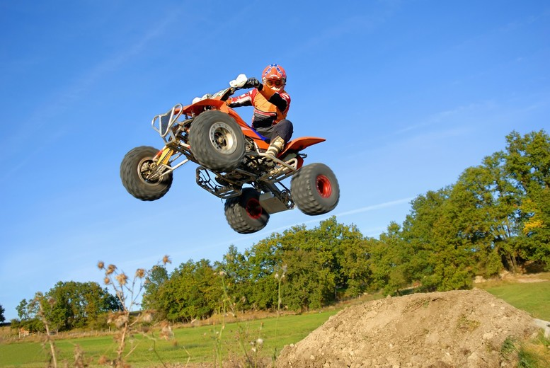 Image of £85 instead of £99 for a quad biking experience for two people from Into The Blue - choose from over 15 nationwide locations and save 15%