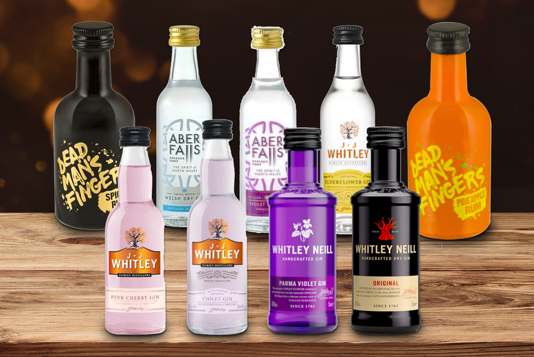 Image of £13 for a pack of six miniature 5cl bottles from Sadler's Peaky Blinder Distillery - including two mystery bottles!
