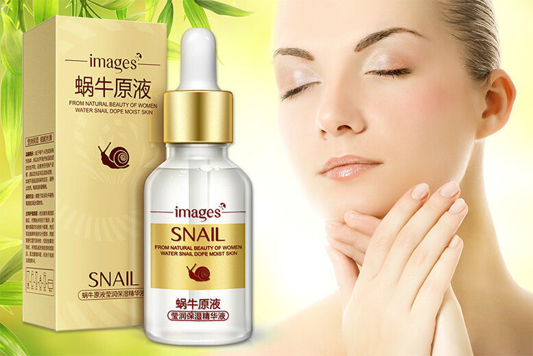 Image of £6.99 instead of £12.99 for a snail extract and Snail Extract and Hyaluronic Acid Face Serum from GetGorgeous - save 46%