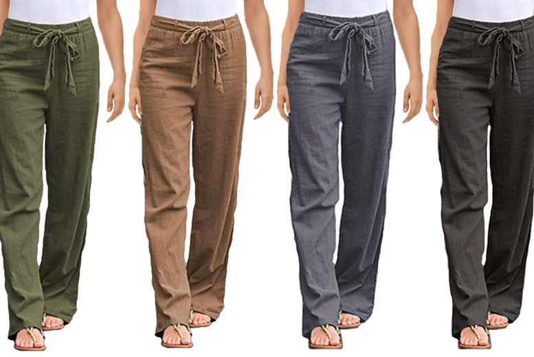 Image of £10.95 instead of £45 for women's loose tie waist trousers from Boni Caro - save 76%