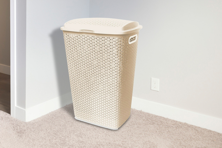 Image of £12.99 for a rattan 54L laundry hamper from Bliss Home Living!