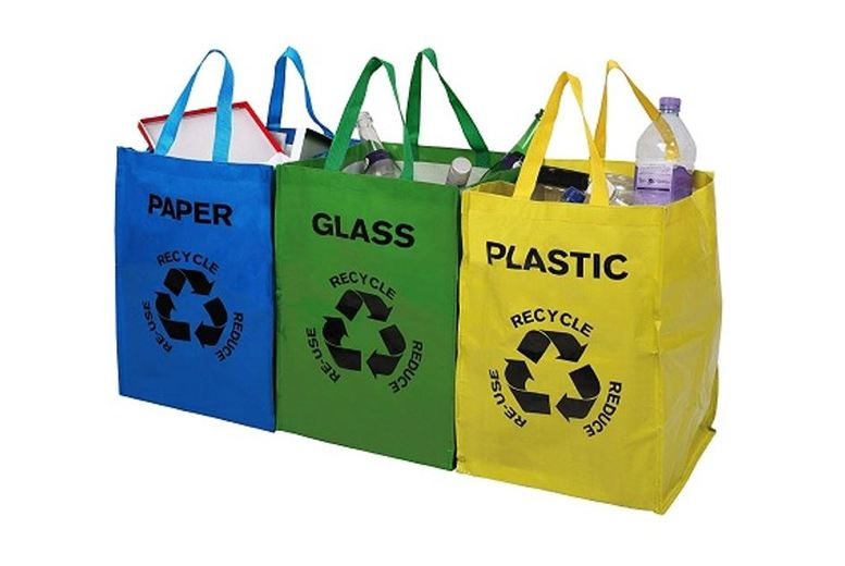 Image of £5.99 instead of £19.99 for a 3 Pack of Multi-Coloured Recycle Bags from ViVo Technologies - save 70%