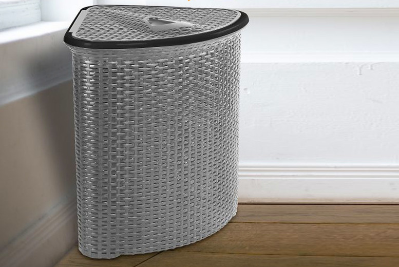 Image of £11.99 instead of £37.99 for a rattan-style corner laundry basket from Fusion Online - save 68%