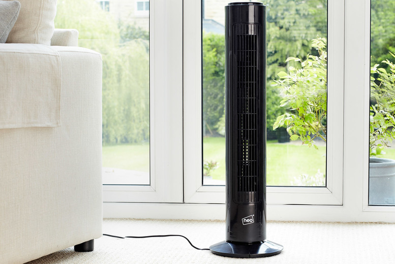 Image of £24.99 instead of £89.99 for a Neo 50W three-speed tower fan from Neo Deals - save 72%