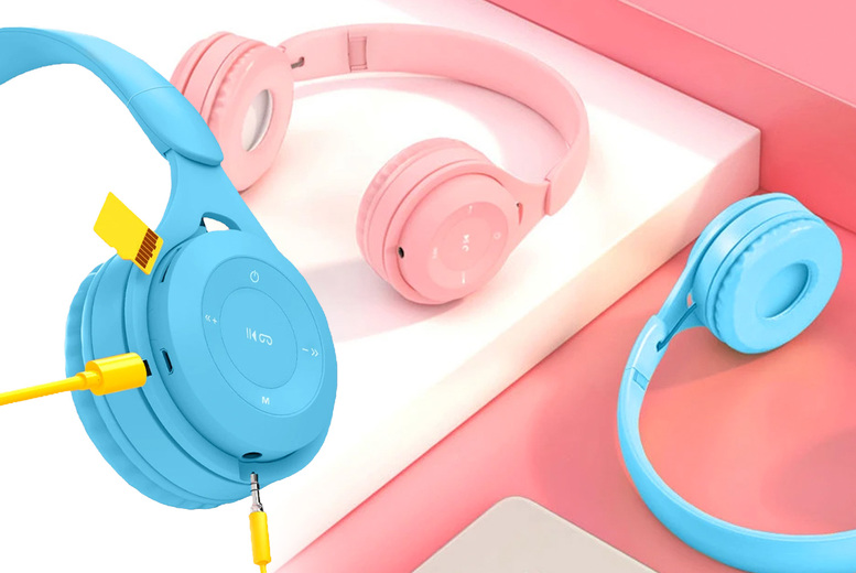Image of £12.99 for a pair of wireless Bluetooth compatible headphones in white, blue, pink, yellow, or black from Magic Trend!