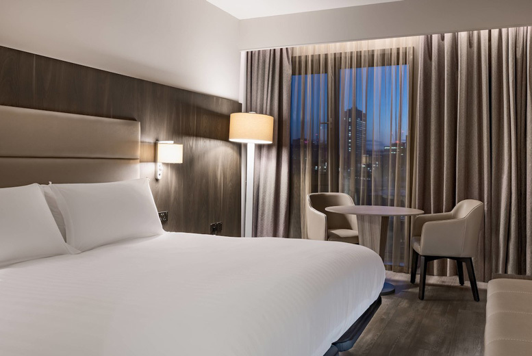 Image of A Manchester stay at 4* AC Hotel Manchester City Centre for two people in a superior room with one glass of Prosecco each, breakfast and 3pm late check out. £65 for an overnight stay - save up to 51%