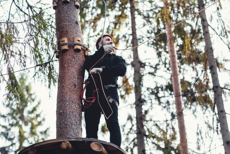 Image of £19 instead of £25 for a two-hour high ropes experience for one person from Into The Blue, Hertfordshire - save 24%