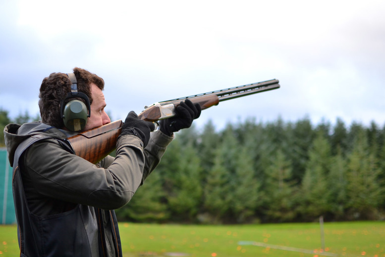 Image of £75 instead of £150 for a clay pigeon shooting session for two with 25 cartridges, lunch and coffee from Cloudside Shooting and Sporting Club - save 50%