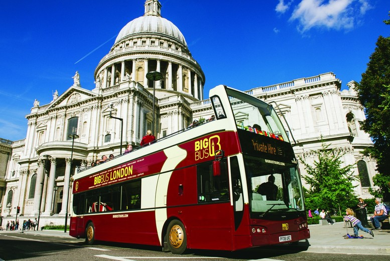 Image of £19 instead of £39 for a child's two-day London sights hop on hop off bus tour ticket and river cruise from Big Bus Tours, or £29 for an adult ticket - save up to 51%