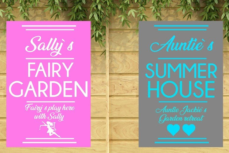 Image of £12 for a personalised garden sign from Colour House