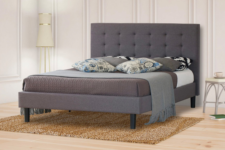 Image of £129 instead of £161.70 for a grey double bed frame from Bedsstar! - save 20%