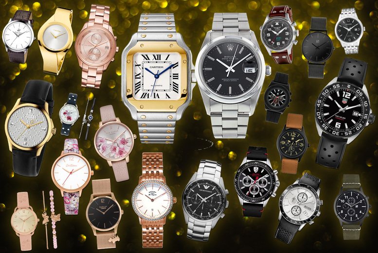 Image of £10 for a mystery watch deal for him or her from Brand Arena - Rolex, Tag Heuer, Cartier, Gucci, Spirit & more!