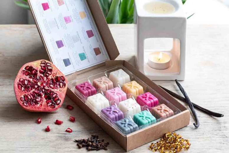Image of £6.99 instead of £11.99 for an oriental wax melts selection box from Graces Court, including 12 scents - save 42%