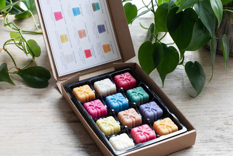 Image of £6.99 instead of £11.99 for a Sweet Treats wax melts selection box from Graces Court including 12 different fragrances - save 42%