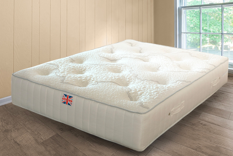 Image of From £105 instead of £449.99 for a luxury deep filled memory foam sprung mattress with wool layer in Single, Double or King size from UKFurniture4u - save up to 77%