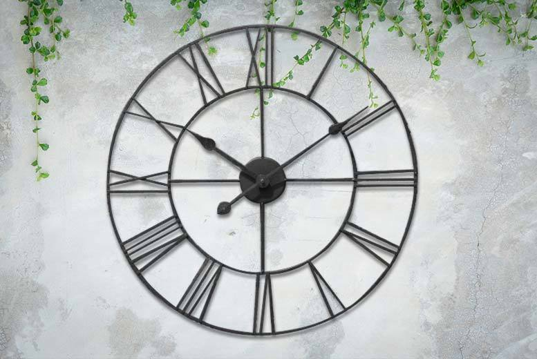 Image of From £14.99 instead of £45 for a Roman numeral clock from direct2publik - save up to 56%