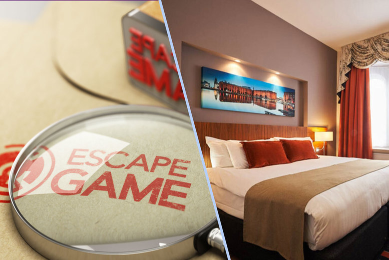 Image of £91 an overnight stay at 4* Heywood House, Liverpool for two people with one bottle of wine to share and a 1pm late check out, and a one-hour escape room experience for two people at Clue HQ Wirral - save up to 58%