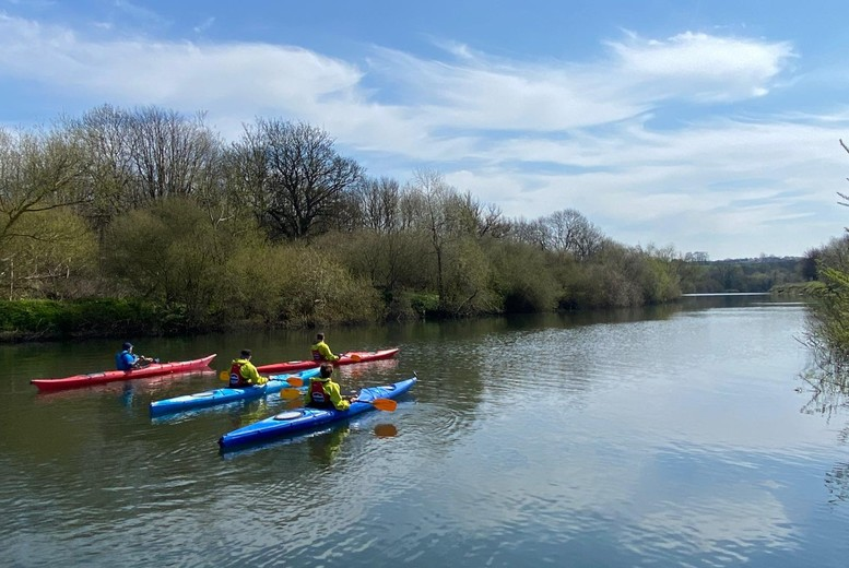 Image of £25 for kayaking or paddle boarding for two-hours for one person at Alexander Adventures, £44 for two people. From £55 for a six-hour kayaking experience, or £119 for a family mega paddle boarding experience - choose from three locations and save up to 43