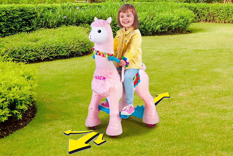Image of £89.99 instead of £200 for a children's Feber My Lovely Llama Ride On from DealBerry - save 55%