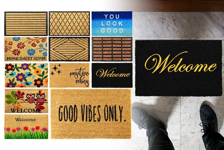 Image of From £6.99 of for a coir door mat from Fusion Online - choose from 13 designs and save up to 73%