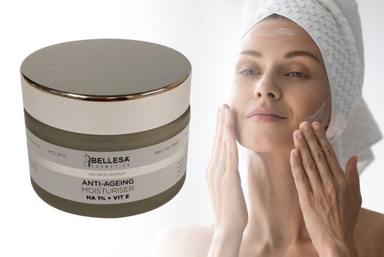 Image of £14 for a hyaluronic acid skin repair moisturiser 50ml from Carefree Toiletries!