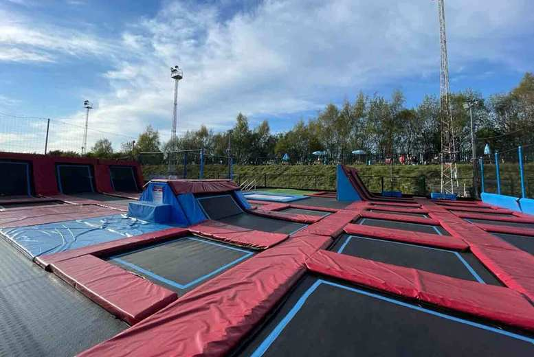 Image of £7.50 instead of £11.50 for a 60-minute trampoline session at the outdoor Soccer Zone, Halesowen including socks, £11 for 90-minutes, £14 for 120-minutes - save up to 35%