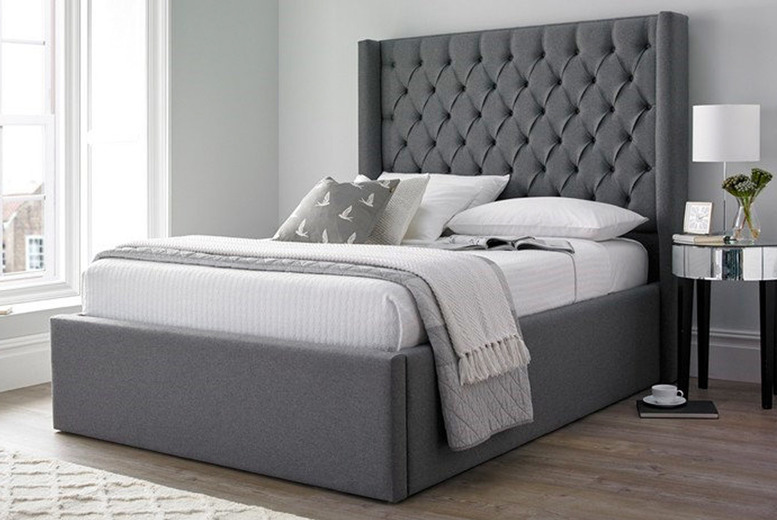 Image of From £265 instead of £545 for a winged Chesterfield bed from Beds and Co - choose from a single, double, king or super king and a mattress option and save up to 51%