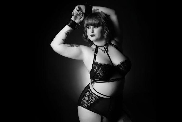 """Image of £9 instead of £49.99 for an 'after-dark' boudoir photoshoot and makeover with a 12""""x 8"""" print for solo ladies or as a couple at Curves Photography Studios, Altrincham - save 82%"""