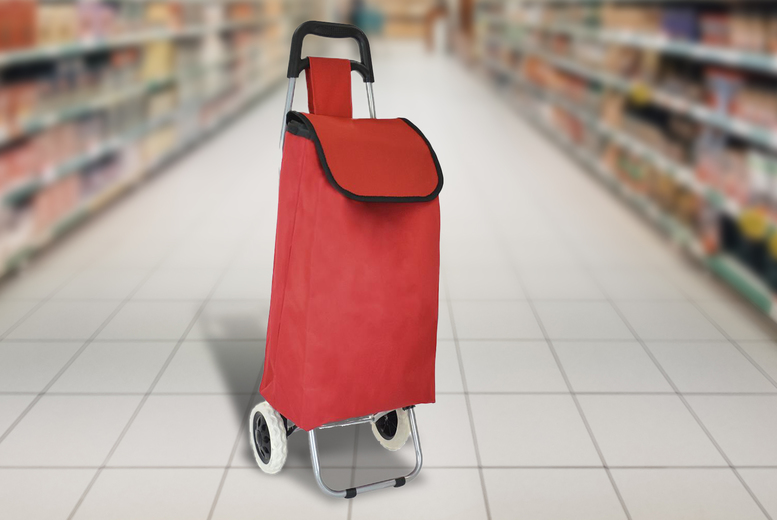 Image of £12.99 for a two-wheel shopping trolley from Luggage Heaven!
