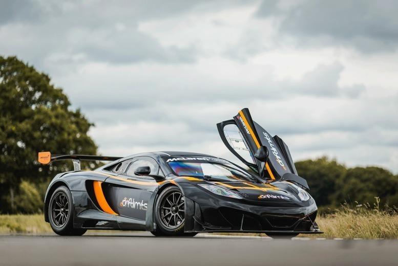 Image of £149 for a 20-lap McLaren v Ferrari Race Car driving experience at Drift Limits, Hemel Hempstead - get the perfect gift!