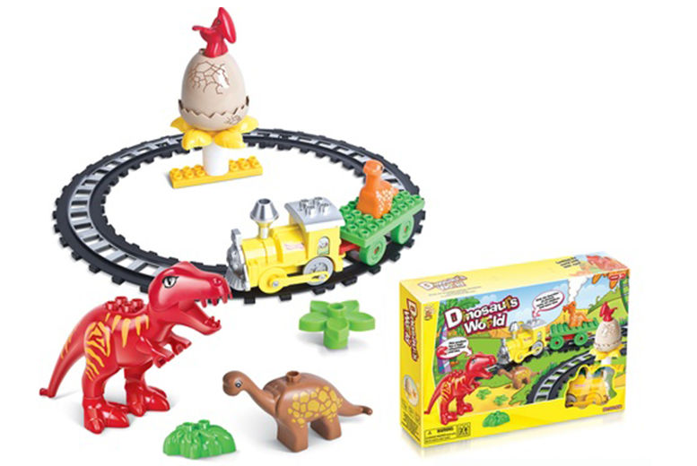 The Best Deal Guide - £9.99 instead of £19.99 for a dinosaurs world brick train set from Ckent Ltd - save 50%