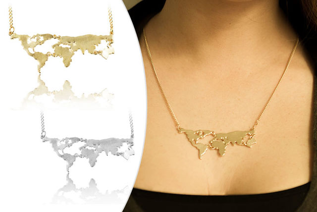 MapoftheWorld Necklace