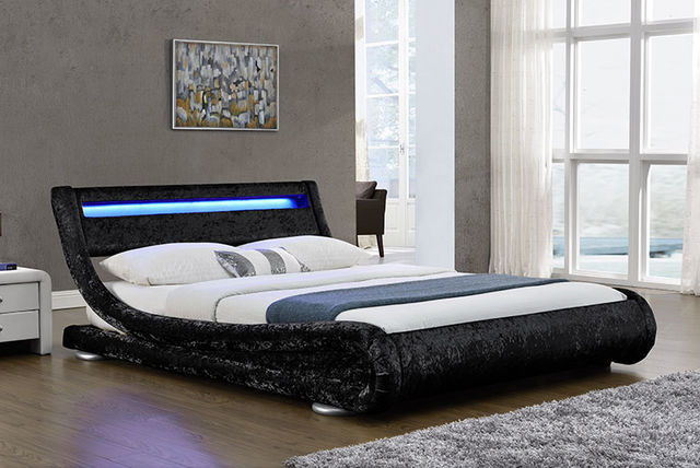 189 instead of 880 from envisage home for a crushed velvet led double bed 199 for a kingsize choose from two colours and save up to 79