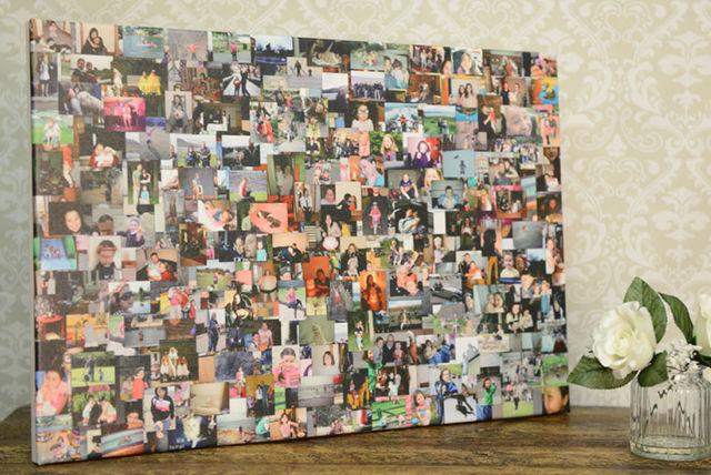 personalised photo collage 3 shapes 3 sizes shopping