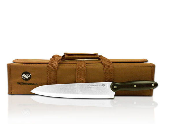 9pc chef s knife set with carry case. Black Bedroom Furniture Sets. Home Design Ideas