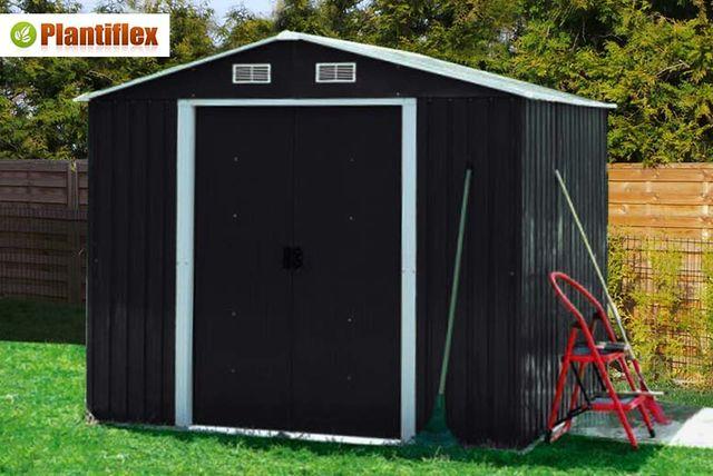 plantiflex garden shed 3 sizes 2 colours