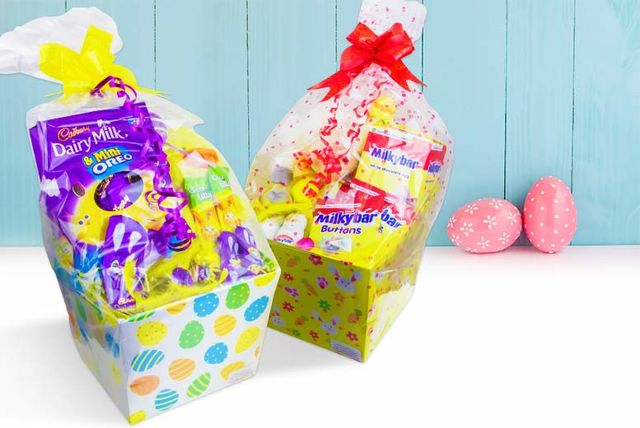 Chocolate easter hamper with teddy negle Image collections