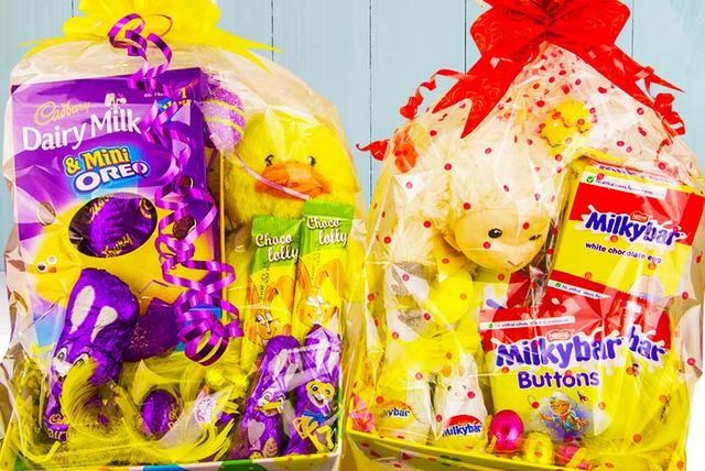 Chocolate easter hamper with teddy 12 instead of 29 for a chocolate easter hamper and soft toy from love gift hampers save 59 negle Choice Image
