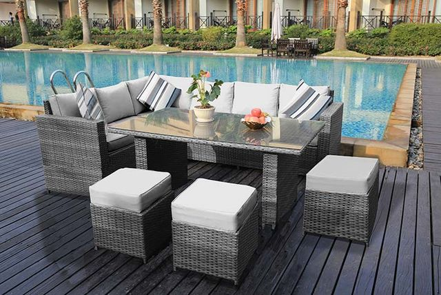 Marvelous Rattan Outdoor Dining Sofa Set Garden Deals In Birmingham Home Interior And Landscaping Ologienasavecom