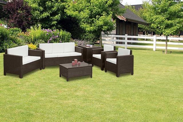 7 seater rattan garden furniture set 2 colours - Garden Furniture Colours