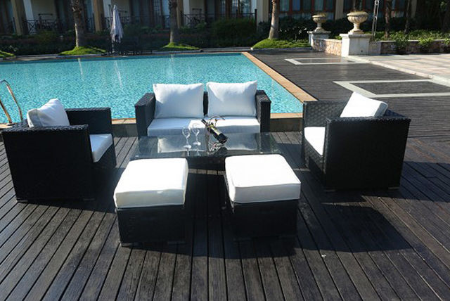 6 seater rattan garden furniture set 3 colours