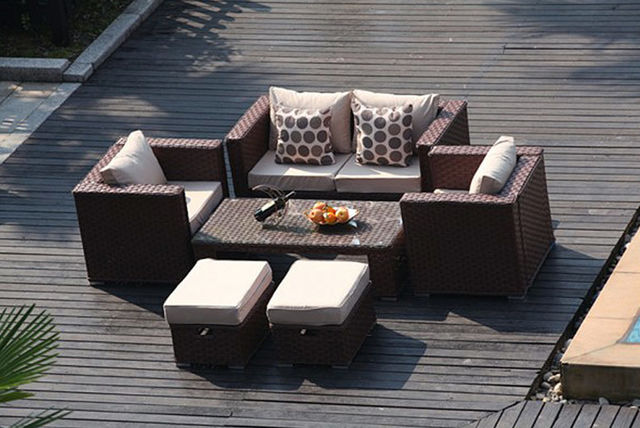 6 seater rattan garden furniture set 3 colours - Garden Furniture Colours