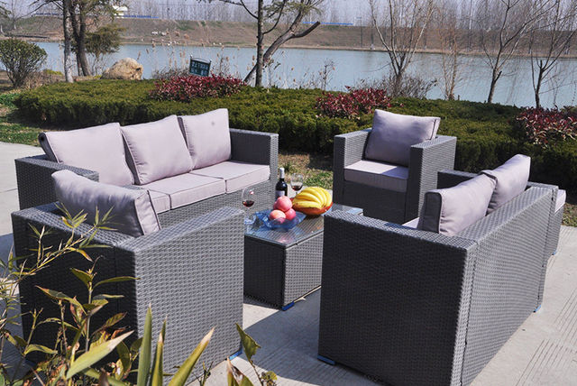 8 seater rattan garden furniture set 2 colours