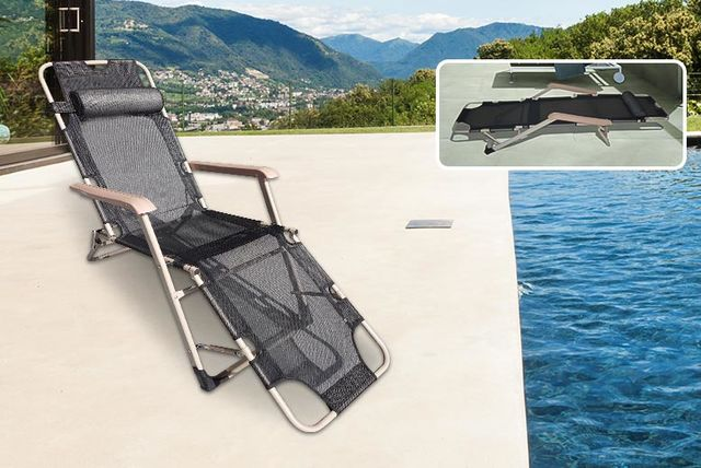& 2-in-1 Zero Gravity Chair u0026 Lounger with Pillow islam-shia.org