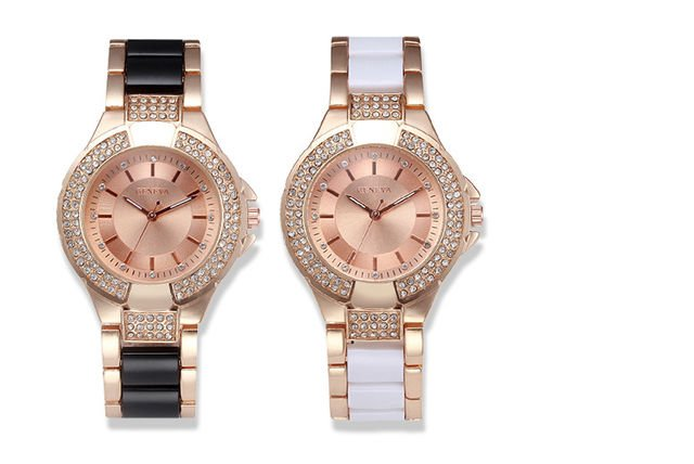 645bc2bb921e €22.99 instead of €92.94 (from Styled By) for a ladies  Geneva crystal  elegance watch - save 75%